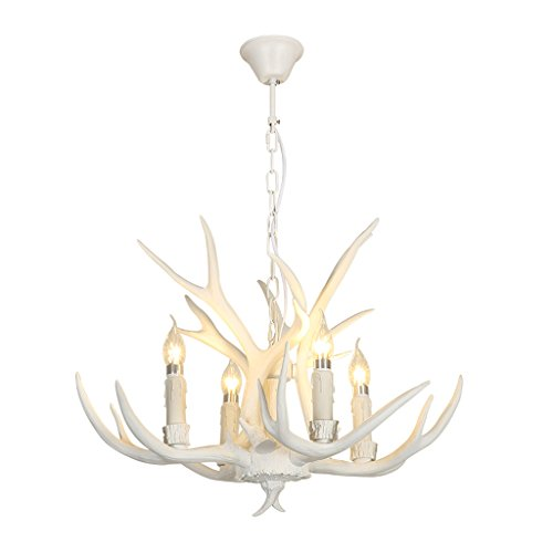 & Perfect ** - 4 Kopf - Retro-Persönlichkeit Geweih Europäische kreative Harz weiße Lampen American Land Wohnzimmer Esszimmer Bar Zähler Kronleuchter