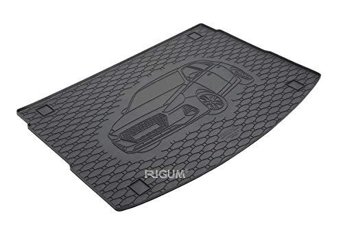 RIGUM Passgenaue Kofferraumwanne geeignet für Hyundai i30 Hatchback ab 2017 + Autoschoner MONTEUR