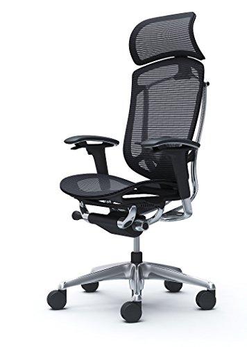 オカムラ オフィスチェア コンテッサ セコンダ 可動肘 エクストラハイバック 座:メッシュ ブラック CC85BS-FPG1