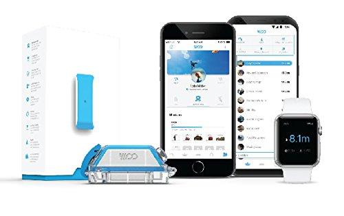 Woo Sports 3.0 Sensor für Kitesurfen, Wakeboarden, Wintersport - Sprunghöhen und Trickmesser (blau)