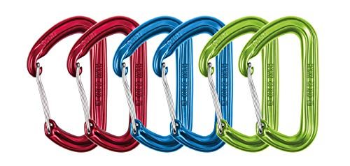 Ocun Hawk Wire 6er pack rot/blau/grün wire gate