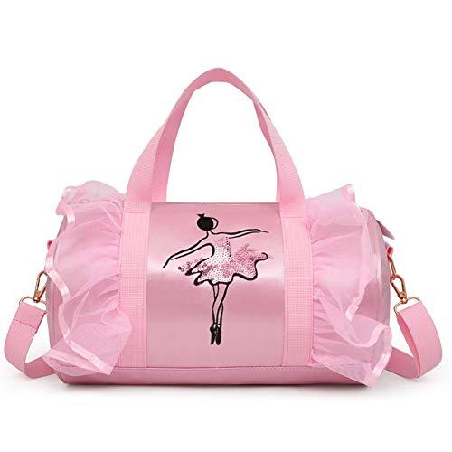 Leiyini Kindertanztasche Umhängetasche Einkaufstasche Mädchentanz Duffle Bag Ballett Latin Dance Handtasche Umhängetasche Messenger Bags für kleine Mädchen Ballerina Kid Teen Dancer