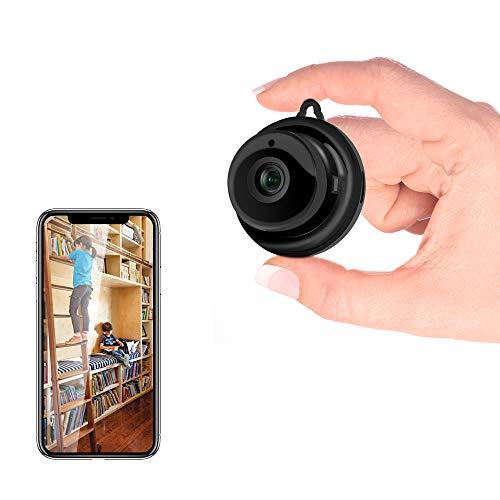 Veroyi Mini-IP-Kamera, WiFi-Überwachungskamera für das Haus, Nanny-Camcorder mit 2-Wege-Audio-Bewegungserkennung Nachtsicht, tragbarer Innen- / Außen-Videorecorder