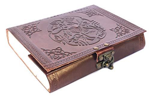 Notizbuch mit Ledereinband, handgefertigt, Tagebuch, Skizzenbuch, Zeichnung, Organizer und Reisetagebuch