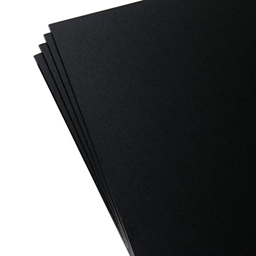 "Plastics 2000 - KYDEX Sheet - 0.093"" Thick, Black, 12"" x 12"", 4 Pack"