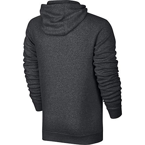Nike Sportswear Club FZ BB Sweat à Capuche Homme, Dark Grey Heather/Dark Grey Heather/Blanc, FR : M...