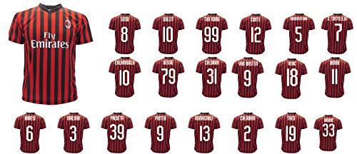 Maglia Milan Ufficiale Rosa Giocatori 2019 2020 AC Milan Adulto Bambino Nome e Numero (8 Anni)