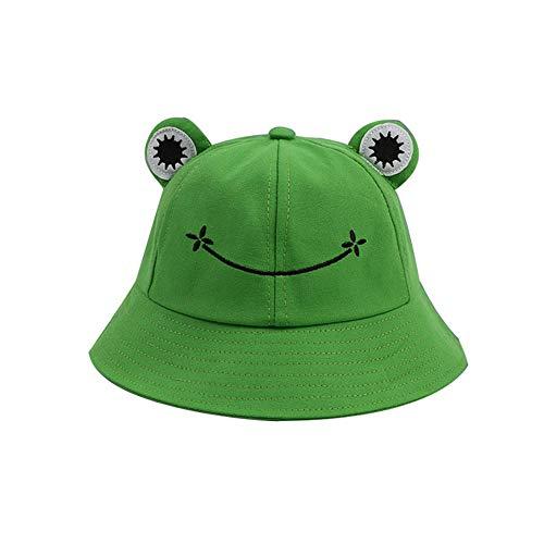 YTFU Fischerhut für Erwachsene, Frosch-Angler, Sonnenhut, Sommerhut aus Baumwolle, niedlicher Frosch-Hut für Frauen