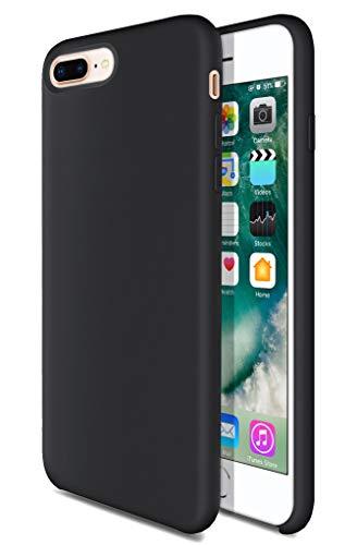 iPhone 7 Plus Case iPhone 8 Plus Silicone Case TOTU Liquid Silicone Gel Rubber Full Body Protection Shockproof Cover Case with Superfine Fibre for iPhone 7 Plus 2016 / iPhone 8 Plus 2017  Black