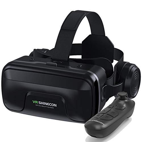 YQY VR Auricular Vagas de Realidad Virtual para 4,7-6 Pulgadas con Lente HD, Gafas de Realidad virtuales universales para niños Adultos, Sus Mejores Juegos móviles 360 películas