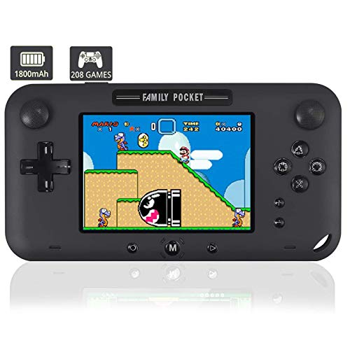 KDRose Handheld Game Console, Portable Game Player Built-in 208 HD Classic Games 4