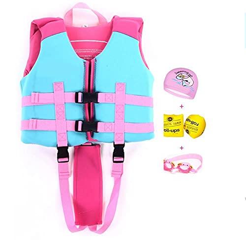 KRISVA Mono flotante chaleco de natación para niños, bañador flotante, ideal con hebilla de seguridad, chaleco de natación para niños de 2 a 6 años