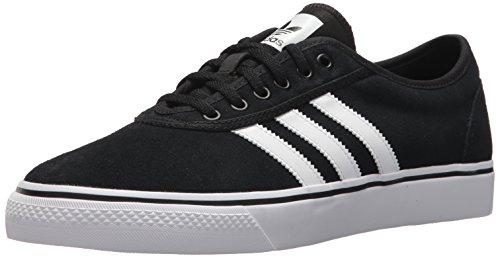 adidas Originals Men's Adiease Skate Shoe, core black/white/core black, 9 M US