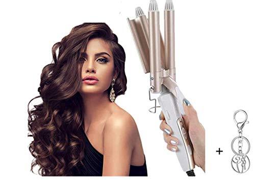 Lockenstab,3 Fässer konstante Temperatur Lockenwickler,TUT Nicht WEH Haare, Ändern Sie die Haarform nach Belieben, kleine und große Rollen,Schnelle Erwärmung Lockenwickler für Lange/Kurze Haare