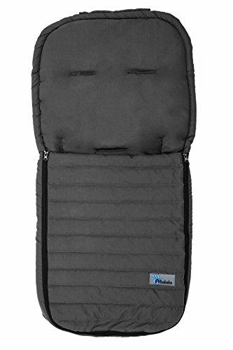 Altabebe AL2200M-11 Sommerfußsack aus Microfaser für alle gängigen Sportwagen, Buggys und Jogger, dunkelgrau
