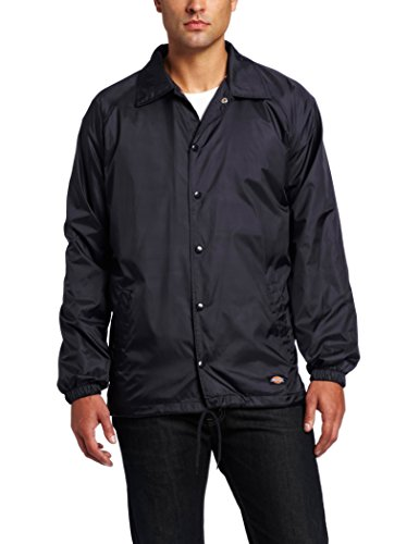 Dickies - - 76-242 Snap Front Nylon Jacket, Blau - Dark Navy, M