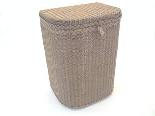Sitzwäschetruhe-Wäschetonne, Sitzwäschekorb aus Loom, Antik gewaschen