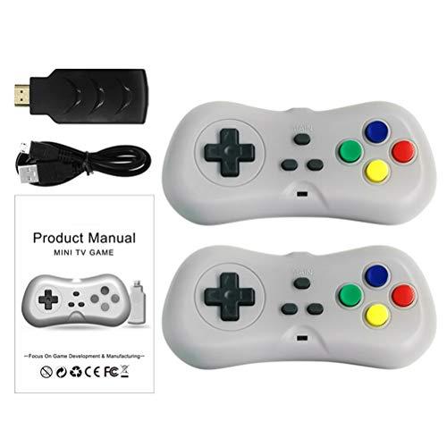 H/L Mini HD FC-TV-spelconsole, 2.4G Wireless Controller Gamepad Joystick met USB-ontvanger en ingebouwde 638 klassieke games [energieklasse A]