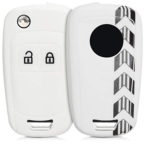 Cubierta de Cuero sint/ético kwmobile Funda para Llave de 3 Botones para Coche VW Skoda Seat Case para Mando y Control de Auto con dise/ño de Rally