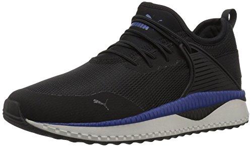 PUMA Kids' Pacer Next Cage Slip On Sneaker, Black-Sodalite Blue-Gray Violet, 2 M US Little Kid