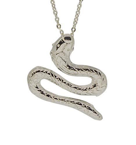 Sicuore Collar Colgante Serpiente para Hombre Mujer - Plata de Ley 925 Incluye Cadena 45cm Y Estuche para Regalo