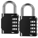 Combination Lock Outdoor Resettable 4 Digit Padlock, AIHYTU 2...