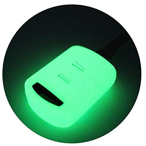 Schlüssel Hülle OA für 2 Tasten Auto Schlüssel Silikon Cover von Finest-Folia (Nachtleuchtend)