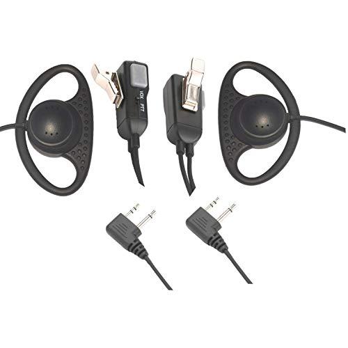 Two-Way Wireless Headset D-Shaped Headset walkie Talkie Headset with PTT/VOX