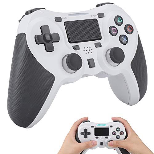 Game Grip, Joystick-controller met draadloze handgreep, Zeer gevoelige eendelige triggerknop, Voor PS4-gameconsole, met USB, Antislip, Slijtvast, Anti-val (15,6 * 11 * 3,5 cm)(Wit)