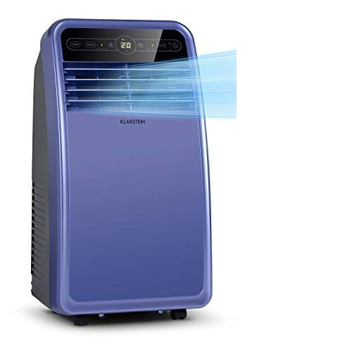Klarstein Metrobreeze New York Smart - mobile Klimaanlage, 3-in-1: Klimaanlage/Luftentfeuchter/Ventilator, WiFi: App-Steuerung, EEC A, 290 m³/h, bis 34 m², 7000 BTU / 2,1 kW, blau