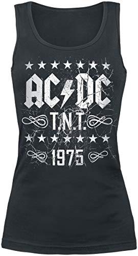 AC/DC T.N.T. 1975 Frauen Top schwarz L 100% Baumwolle Band-Merch, Bands