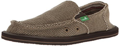 Sanuk Kids Vagabond Boys Loafer, Brown, 1 M US Little Kid