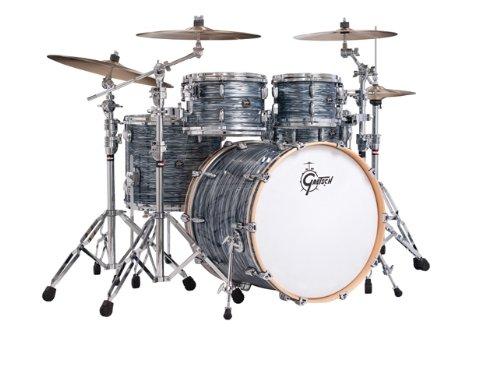Gretsch New Renown Maple 4-Piece Euro Drum Set Shell Pack - Silver...
