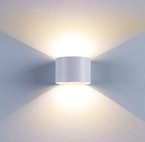 BELLALICHT LED Wandleuchte Innen Aussen Warmweiß Wandlampe mit Einstellbar Abstrahlwinkel 12W IP65 Wasserdicht Up Down 2700K Wandbeleuchtung [Energieklasse A++]