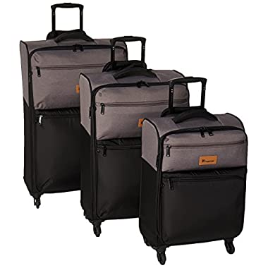 it luggage DuoTone 4 Wheel 3 Piece Set, Grey/Black