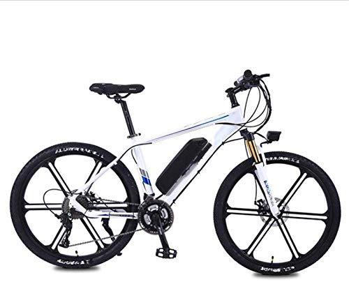 Bicicleta de montaña eléctrica, Eléctrica bicicleta de montaña, 350W 26' adultos urbanos e-bike batería extraíble de litio 27 Frenos velocidad Doble Disco marco de aleación de aluminio unisex ,Bicicle