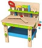 Juego de Herramientas para un Banco de Trabajo de Caja de Madera para Niños con Accesorios para Niños para Que Jueguen en el Jardín Exterior