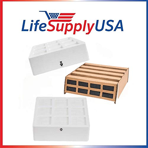 Lowest Prices! LifeSupplyUSA Complete Filter Replacement Kit Compatible with IQAir HealthPro Plus Ai...
