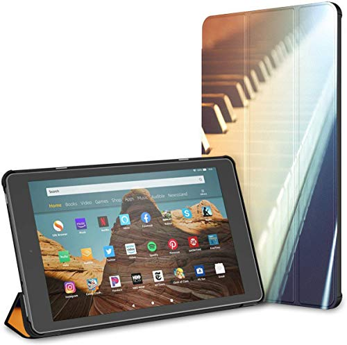 Case For Piano And Piano Keyboards Fire Hd 10 Tablet (9th/7th Generation, 2019/2017 Release) KindleCase CaseKindle Auto Wake/sleep For 10.1 Inch Tablet