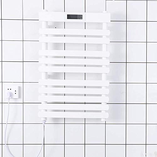Sèche-serviettes chauffant Radiateur sèche-serviettes électrique Avec Modes de minuterie LCD...