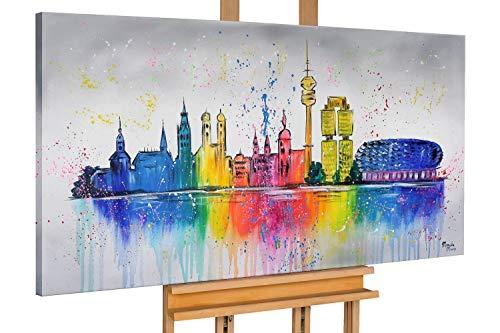 KunstLoft® Acryl Gemälde 'Dahoam in Bayern' 140x70cm handgemalt Leinwand Bild