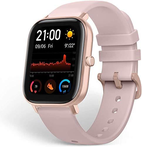 Otti Smartwatch Full Touch-Farbdisplay Fitness Armbanduhr mit Pulsuhr Fitness Tracker IP68 Wasserdicht mit Schrittzähler, Schlafmonitor für Damen Herren Kinder Bereit Lange Bereitschafts (Pink)