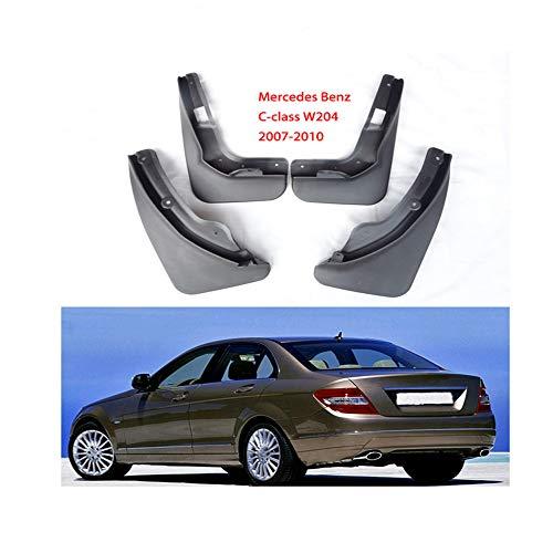 HZHAOWEI Guardabarros de Guardabarros de Aleta de Barro automático, para Mercedes Benz Clase C W204 2007-2010 Accesorios de Coche 4 Piezas