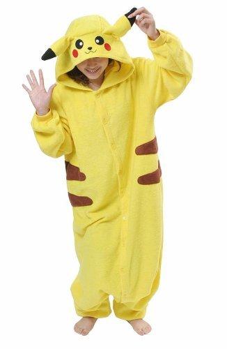 Frau Pokemon Pikachu Schlafanzug Erwachsene Anime Cosplay Halloween Kostüm Kleidung Größe L (165CM-172CM)