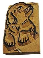 アジアン雑貨 ネパール・アニマル・手彫りスタンプ 犬 STA-35 [並行輸入品]