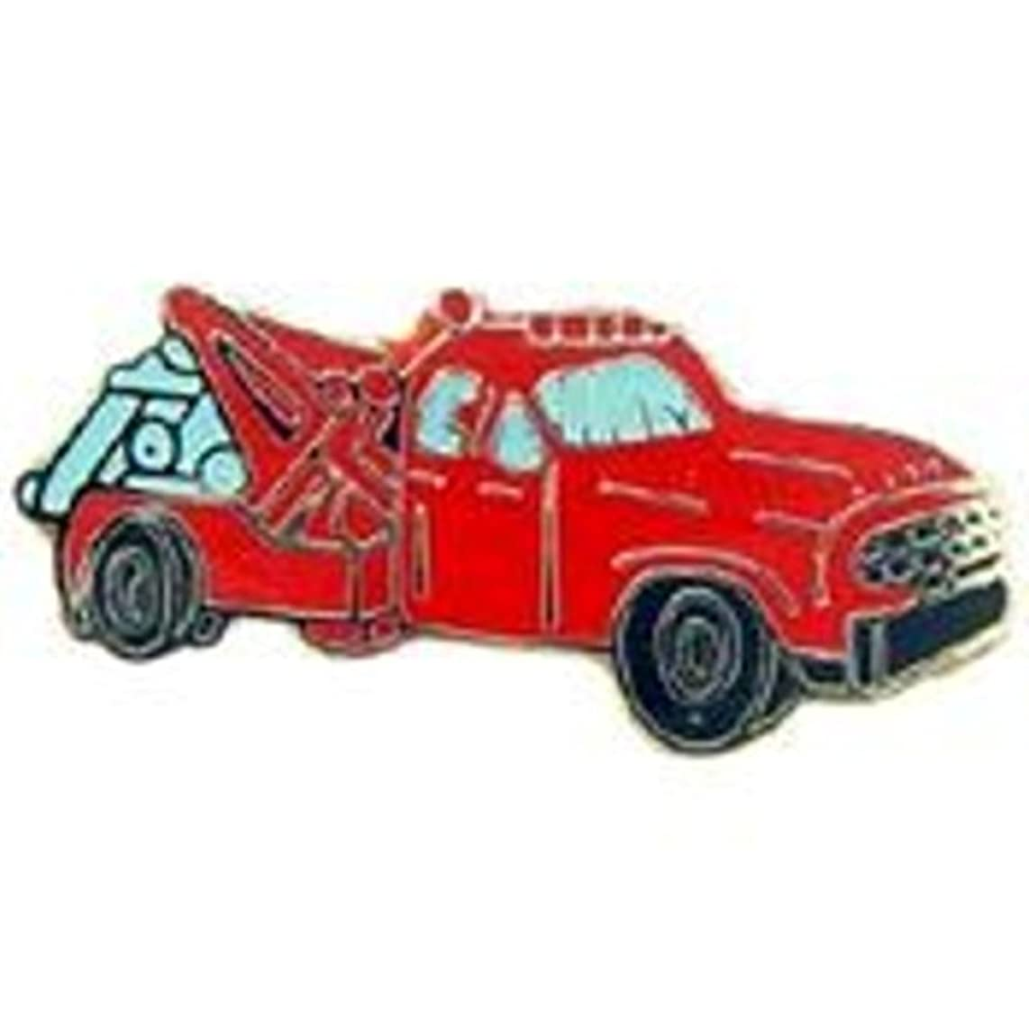 EagleEmblems P02083 Pin Tow Truck,Red (1'')