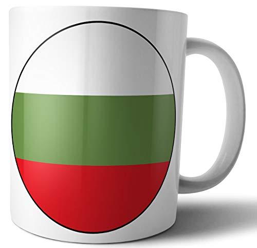 Bandera de Bulgaria, té, café, taza, cumpleaños, Navidad, regalo de Papá Noel secreto