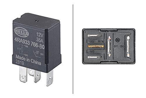HELLA 4RA 933 766,801 Relé, corriente de trabajo , 12V , 4polos , contacto conmutador , Cant.: 1