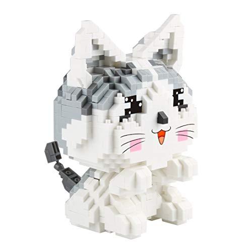 Larcele Mini Katze Bausteine Spielzeug Bricks Haustier Bauen Bauklötze,1022 Stücke KLJM-02 (Modell 2284) Mehrweg