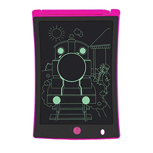 LCD Writing Tablet, 8.5-Inch Writing Board Doodle Board, Electronic Doodle Pads Drawing Board Gift for Kids and Adults at Home,School and Office (Pink)
